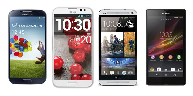 galaxy s iv vs htc one vs optimus g pro vs xperia z