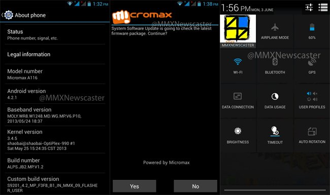 android 4.2 micromax a116