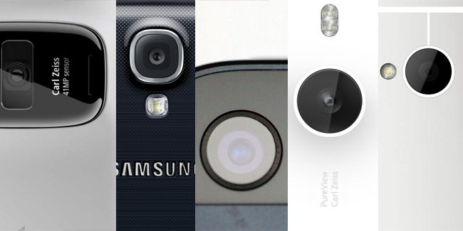 Lumia 1020 vs. 925 vs. 920 vs. Pureview 808 vs. iPhone 5 vs. Galaxy S4 vs