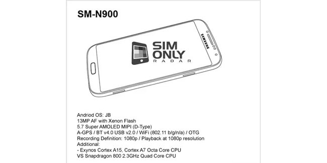 galaxy note iii to feature snapdragon 800/exynos 5 octa