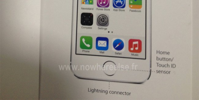 Alleged iPhone 5S render leaks revealing a new Home button/Touch UID SensorAlleged iPhone 5S render leaks revealing a new Home button/Touch UID Sensor