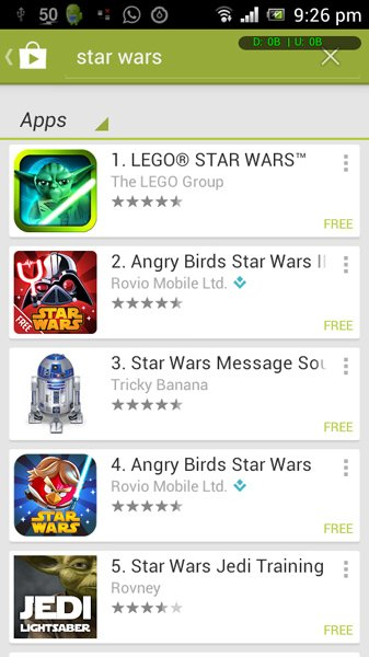 android star wars