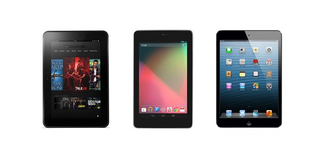 Apple Ipad Vs Kindle: Apple IPad Mini With Retina Display Vs. New Nexus 7 Vs