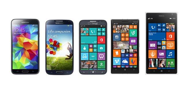 Samsung ATIV SE vs. Nokia Lumia 930 vs. Lumia 1520 vs. Samsung Galaxy S5