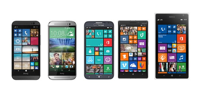 HTC One M8 for Windows vs. One M8 vs. Lumia 930 vs. Lumia 1520 vs. Samsung ATIV SE