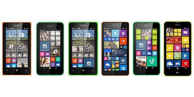 Lumia 435 vs. 530 vs. Lumia 535 vs. Lumia 532 vs. Lumia 630 vs. Lumia 638