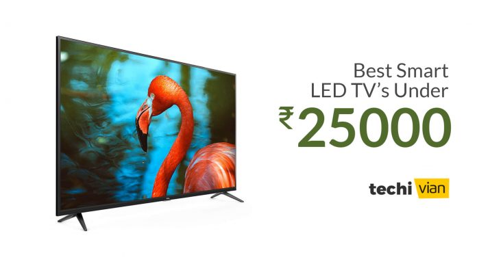Best Smart LED TVs Under 25,000 in India
