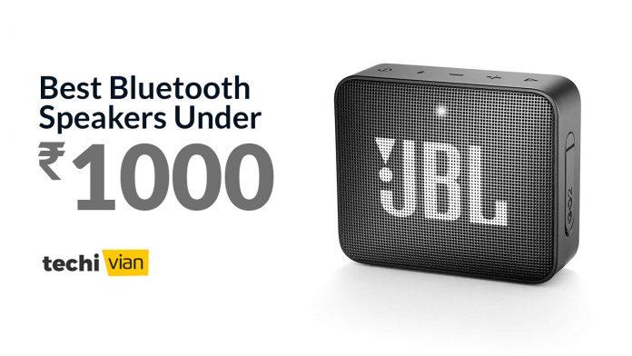Best Bluetooth Speakers under 1000 in India - Techivian