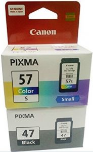 Canon PG-47 Black and CL-57S Color Ink Cartridge