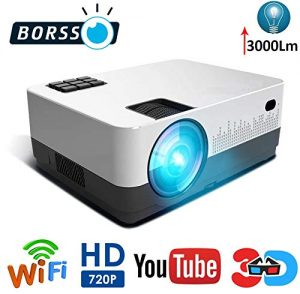 BORSSO Moon 7.1 HD LED Projector