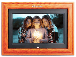 XElectron® 10 inch IPS Wooden Digital Photo Frame/Video Frame