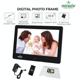 Miracle Digital 7 inch Digital Photo Frame